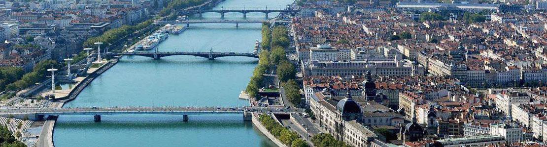 Ville de Lyon vue du ciel